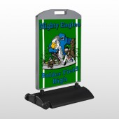Green 56 Wind Frame Sign