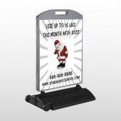 Health Santa 402 Wind Frame Sign