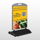Healthy Tomato 404 Wind Frame Sign