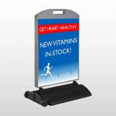 Heart Healthy 140 Wind Frame Sign