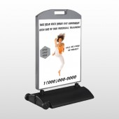 High Kick Woman 408 Wind Frame Sign