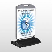 Man On Earth 406 Wind Frame Sign