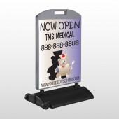 Nurse Bear 504 Wind Frame Sign