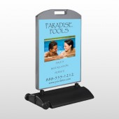 Paradise Pool 529 Wind Frame Sign