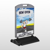 Road Workout 407 Wind Frame Sign