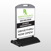 RX North County 105 Wind Frame Sign