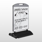 Silhouette Guitar 371 Wind Frame Sign