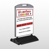 Sporting Goods 528 Wind Frame Sign