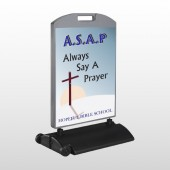 Sunrise Cross 164 Wind Frame Sign