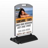 Sunshine Tans 297 Wind Frame Sign