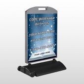Worship With Us 02 Wind Frame Sign