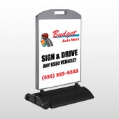 Budget Auto Mart 116 Wind Frame Sign