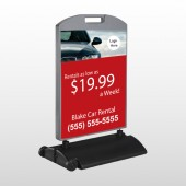 Car Rental 112 Wind Frame Sign