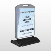 Finance Graph 175 Wind Frame Sign