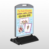 Ice Cream 374 Wind Frame Sign