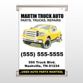 Black & Yellow Truck 117 Track Banner
