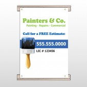 Blue Paint Brush 305 Track Banner