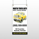 Black & Yellow Truck 117 Window Sign