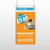 Blue Moving 294 Window Sign
