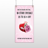 Pink Rose Hide Ring 400 Window Sign