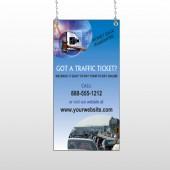 Traffic Cars 151 Window Sign