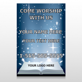 Worship With Us 02 Custom Decal