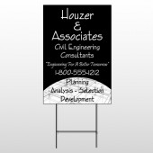 Black Planning 218 Wire Frame Sign