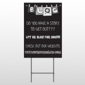 Blog Line 430 Wire Frame Sign