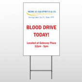 Blood Drive 330 Wire Frame Sign