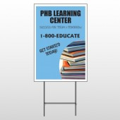 Book Learning 156 Wire Frame Sign