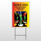 Dance Disco 518 Wire Frame Sign