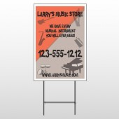 Larry Music Store 372 Wire Frame Sign