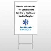 Pharmacy 335 Wire Frame Sign