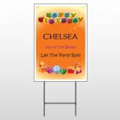 Birthday Balloons 185 Wire Frame Sign