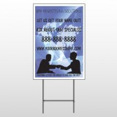 Map Silhouette 433 Wire Frame Sign