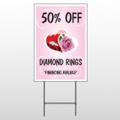 Pinkrose Hidden Ring 399 Wire Frame Sign
