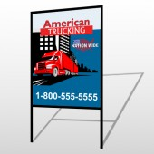 American Truck 295 H Frame Sign