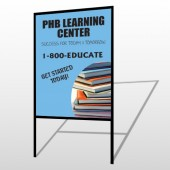 Book Learning 156 H-Frame Sign