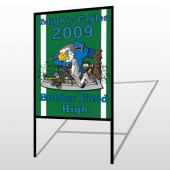 Green 50 H Frame Sign