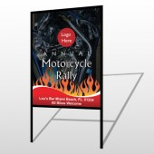 Motorcycle Flame 322 H-Frame Sign