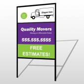 Moving Truck 293 H Frame Sign