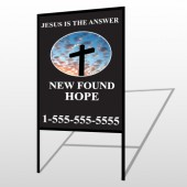 New Found Hope 01 H-Frame Sign