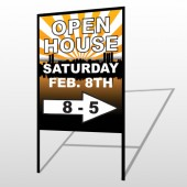 Open Right Arrow 715 H-Frame Sign