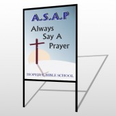 Sunrise Cross 164 H-Frame Sign