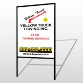 Towing 125 H-Frame Sign