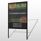 Black And Floral 496 H Frame Sign