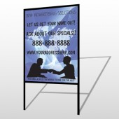 Map Silhouette 433 H Frame Sign