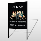 Party Planning 519 H Frame Sign