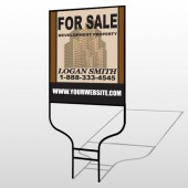 Brown Buildings 858 Round Rod Sign