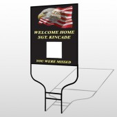 Eagle Flag 307 Round Rod Sign